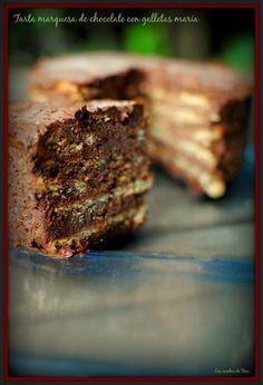 Tarta marquesa de chocolate con galletas maría | Cocinar en casa es facilisimo.com