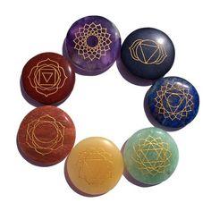 New Larger stones! Chakra Balancing set of 7 – Cast a Stone