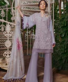 Buy Sobia Nazir Spring Summer Lawn 2019 Collection Embroidered Lawn Unstitched 3 Piece Suit from Sanaulla Store - Original Products. Latest Pakistani Suits, Pakistani Lawn Suits, Pakistani Dress Design, Pakistani Outfits, Salwar Suit With Price, Neck Designs For Suits, Suits Online Shopping, Boutique Suits, Pakistan Fashion