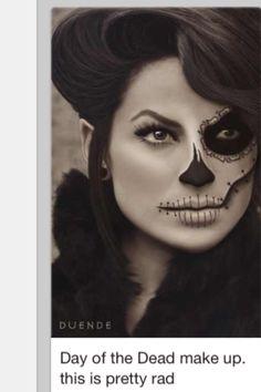 Sugar skull makeup - I could do this... I could.