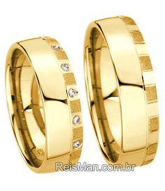 Alianças Paulista ♥ Casamento e Noivado em Ouro 18K - Reisman