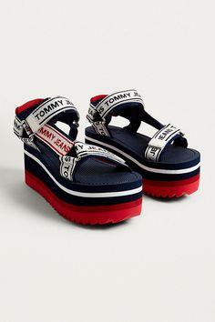 8074fbf5510a07 Slide View  3  Tommy Jeans Technical Navy Platform Sandals Tommy Hilfiger  Shoes