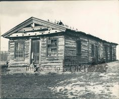 The Fred Kanouse Trading Post still stands on its original location at the Fort Museum of the NWMP.  Fred Kanouse was a whiskey trader, but, with the arrival of the NWMP in 1974, was forced to run a more legitimate business.
