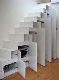 space saving storage under stairs