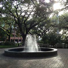 Johnson Square fountains...pretty!