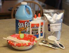 Ingredientes para hacer slime magnético