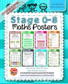 STAGE 0-8 Bundle - Maths Learning Intentions Posters (New Zealand ...