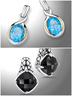 Which style of gemstone jewelry do you prefer for every day? Bright, radiant blue? Or elegant, mysterious black? | Colore SG
