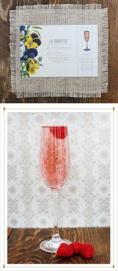 La Rosette: Dry rose + St. Germain (plus more St. Germain #cocktails). #drink