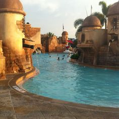 Caribbean Beach Resort, Disney World. I LOVE the pool at this resort, the Pirate Rooms are also fun!