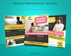 Check out Business Workshop Promotion Flyer by graphicstall on Creative Market layout ideas