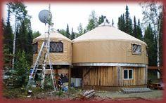 The Super 2 Story All Weather - Alaskan Style Yurt! Tiny House Cabin, Tiny House Living, Tiny Houses, Buy A Yurt, Yurts For Sale, Pacific Yurts, Yurt Interior, Yurt Home, Yurt Living