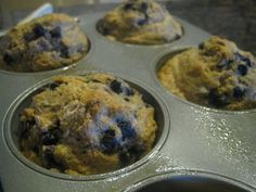 Phase 1 Blueberry muffins... swap out oil for applesauce and rice milk for soy.