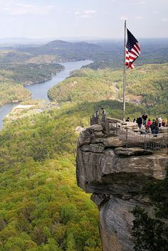 Chimney Rock, Chimney Rock Park in the Blue Ridge Mountains of North Carolina.   by Robby Edwards, via Flickr
