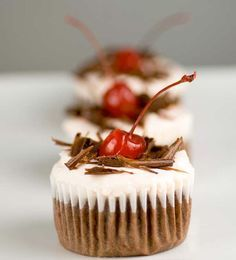 Gluten Free Black Forest Cupcakes