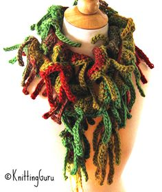 This is so beautiful to wear in the autumn that I call this variation of my Tender Tendrils scarf November Nirvana! The pattern is very easy and includes 11 variations.