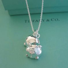 Cheapest Tiffany pig pendant necklace -TA339 on sale - designer Tiffany Necklaces