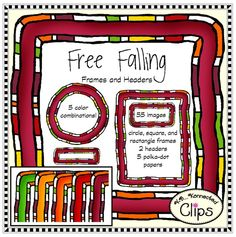 Free Falling - Frame and Header Clip Art Collection $ Fun fall colors! http://www.teacherspayteachers.com/Product/Free-Falling-Frame-and-Header-Clip-Art-Collection-1448461
