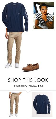 """""""Men's fashion"""" by maybeckc on Polyvore featuring NIKE, Vineyard Vines and Sperry Top-Sider"""