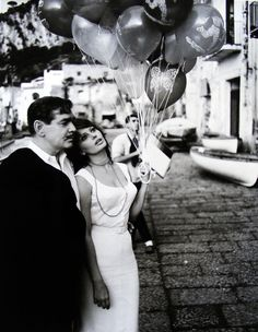 "Clark Gable + Sofia Loren in ""It Started in Naples"""