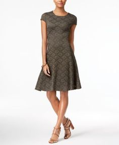 Alfani Lace Fit & Flare Dress, Only at Macy's $69.99 Cut from lovely lace fabric, Alfani's effortless daytime dress features an enviable A-line silhouette and cute cap sleeves.