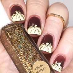 Thanksgiving Nails Ideas for 2017 Were Nuts about ★ See more: http://glaminati.com/thanksgiving-nails-ideas/