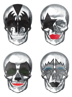 Creative Boys Club » Pigmento Design presents: Skulls Inspired by the rock band KISS