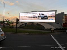 Campaign for Ford's 'All New' Transit Connect, here seen at Outdoor Plus' iconic digital installation.