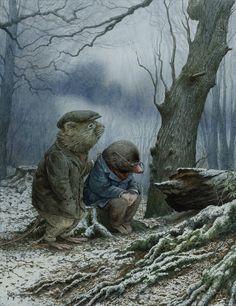 Chris Dunn Illustration/Fine Art: 'Telling Tales' and other artworks Chris Dunn, Art Calendar, Rabbit Art, Fairytale Art, Albrecht Durer, Children's Book Illustration, Book Illustrations, Whimsical Art, Illustrators