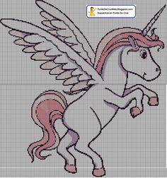 Unicornio punto de cruz