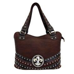 Montana West Fleur de Lis Brown purse $59.99