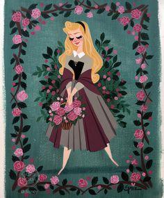 Disney Kunst, Arte Disney, Disney Magic, Princesa Disney Aurora, Princess Aurora, Disney Princess, Disney Artwork, Disney Fan Art, Disney Love