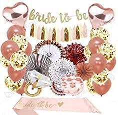 Rose Gold Bridal Shower Decorations Bachelorette Gifts Bride to Be Rose Gold Confetti Balloons Bachelorette Party Supplies (Rose Gold, Gold) (Rose Gold, Gold) Bachelorette Party Supplies, Bachelorette Gifts, Bachelorette Party Decorations, Bridal Shower Decorations, Gold Bridal Showers, Bridal Shower Party, Bride To Be Banner, Rose Gold Theme, Bridal Shower Planning