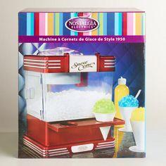 Retro Snow Cone Maker perfect with Torani Syrup at Cost Plus World Market >>  #WorldMarket Outdoor Movie Night