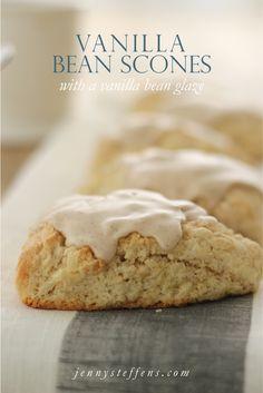 Easy Vanilla Bean Scones with a Vanilla Bean Glaze