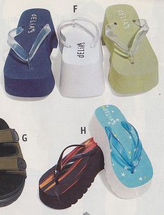 You looked tall in your plat-flops. old deia*s catalogue 90s