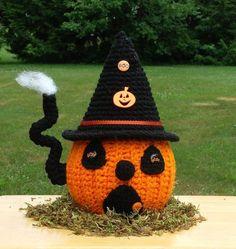 Halloween Pumpkin House Crochet Pattern.Halloween crochet #2014 #Halloween