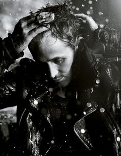 Ryan Gosling. Rain. Messy hair. Serious yum.