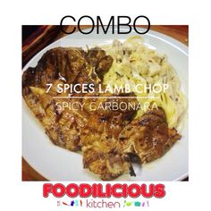 Jom Combo hari ni & order our #bestseller 7 Spices Lamb Chop combo Spicy Carbonara #confirmsedap #pedas #bestgiler  Served with blackpepper sauce (Lamb Chop RM14.90 add Carbonara RM10.90)  #foodiliciouskitchen #catering  #tapau #affordable  #halal #westernfood  #shahalam  Call 017-641 9945  Whatsapp 012-716 6300  Monday-Sunday (6pm - 11pm)  Food Court, Kompleks Anjung 7, Jalan Zirkon 7B, Seksyen 7, 40000 Shah Alam.