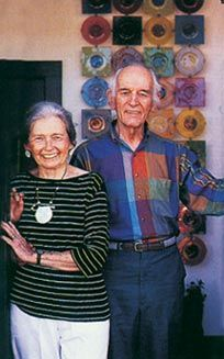 Frances and Michael Higgins, modernist glass artists and pioneers.