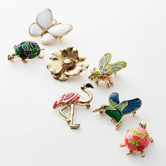 Give your look some lift with our whimsical brooches and pins.