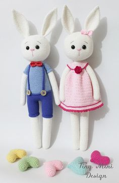 Crackers Bunny and Crackers Girl Bunny | Tiny Mini Design Patterns