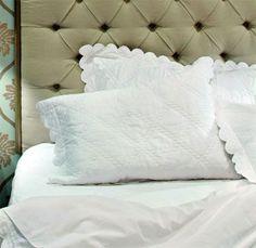 scalloped edge pillows