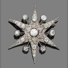 A Diamond Star Brooch.   # Pin++ for Pinterest #