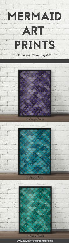 Instant Download Gold and Purple Mermaid Scales - Art Print - Printable Art - Digital Prints - Abstract Art //25 Hour Day