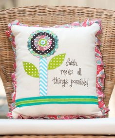 Look what I found on #zulily! 'All Things Possible' Throw Pillow by Glory Haus #zulilyfinds
