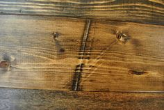 what long dent added to new wood looks like after staining with medium wood stain