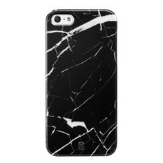 Clip-on-CaseiPhone 5/5S ELEMENT collection by Case Scenario «Black Marble»