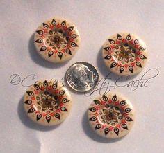 PMB-1: Painted Mandala Buttons