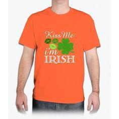 Kiss Me I'm Irish St. Patrick's Day Irish T-shirt - Mens T-Shirt